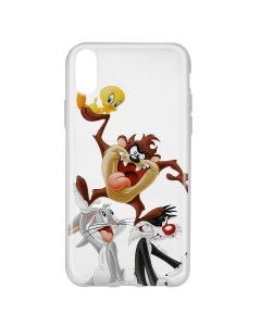 Husa iPhone X Looney Tunes Silicon Looney Tunes 001 Clear