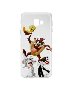 Husa Samsung Galaxy J4 Plus Looney Tunes Silicon Looney Tunes 001 Clear
