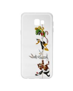 Husa Samsung Galaxy J4 Plus Looney Tunes Silicon Looney Tunes 009 Clear