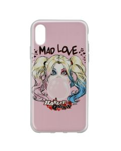 Husa iPhone X DC Comics Silicon Harley Quinn 001 Pink