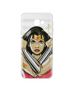 Husa Samsung Galaxy J4 Plus DC Comics Silicon Wonder Woman 003 Clear