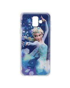 Husa Samsung Galaxy J6 Plus Disney Silicon Elsa 011 Blue