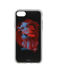 Husa iPhone 8 / 7 / 6 Disney Silicon Simba and Friends 001 Black
