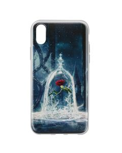 Husa iPhone X Disney Silicon Beauty and the Beast 002 Blue