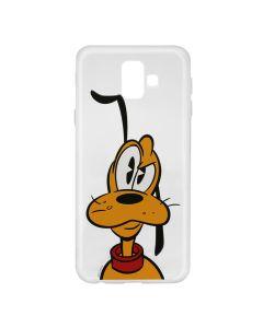 Husa Samsung Galaxy J6 Plus Disney Silicon Pluto 001 Clear