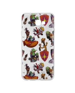 Husa Samsung Galaxy J4 Plus Marvel Silicon Guardians of the Galaxy 007 Clear