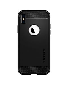 Husa iPhone XS / X Spigen Rugged Armor Black