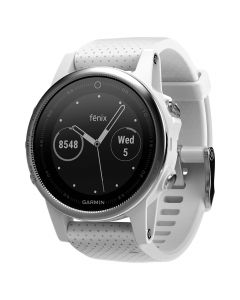 Smartwatch Garmin Fenix 5S HR Silver / White Carrara