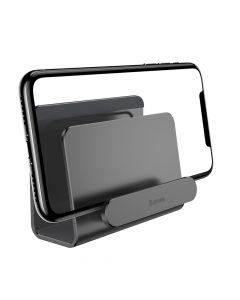 Suport Baseus Metalic de Perete pentru Telefon Space Gray