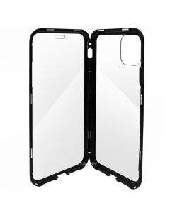 Carcasa iPhone 11 Pro Meleovo Magnetica Dual Glass Black