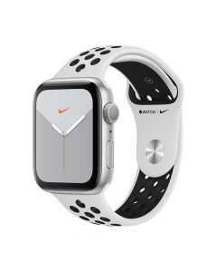 Apple Watch 5 Nike GPS Silver Aluminium Case 40mm cu Pure Platinum/Black Nike Sport Band