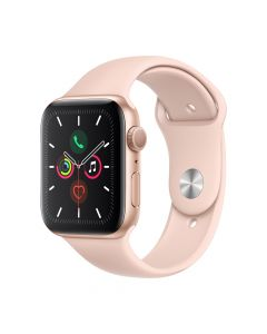 Apple Watch 5 GPS Gold Aluminium Case 40mm cu Pink Sand Sport Band