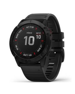 Smartwatch Garmin Fenix 6X Pro Slate Gray cu Black Band (51mm, wi-fi, glass)