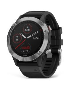 Smartwatch Garmin Fenix 6 Pro Slate Gray cu Black Band (47mm, wi-fi, glass)