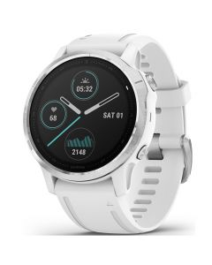 Smartwatch Garmin Fenix 6S Silver cu White Band (42mm)