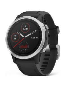 Smartwatch Garmin Fenix 6S Silver cu Black Band (42mm)
