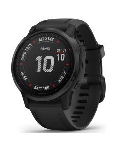 Garmin Smartwatch Fenix 6S Pro Black cu Black Band (42mm, wi-fi, glass)