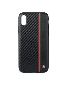 Husa iPhone XS / X Meleovo Carbon Black & Red