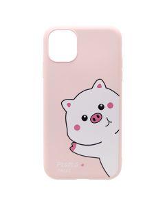 Husa iPhone 11 Lemontti Silicon Soft Art Pink Pig
