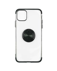 Husa iPhone 11 Pro Max Just Must Silicon Mirror Ring Black