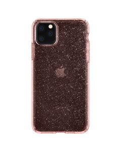 Husa iPhone 11 Pro Max Spigen Liquid Crystal Glitter Rose Quartz