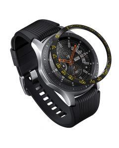 Samsung Galaxy Watch 46mm Ringke Rama Ornamentala Otel Inoxidabil Negru / Auriu