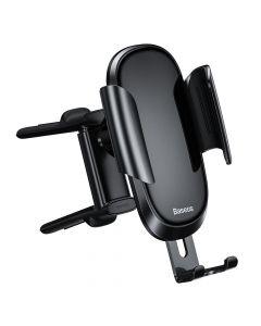 Suport Baseus Auto Future Gravity Black (prindere la grila de ventilatie rotunda)