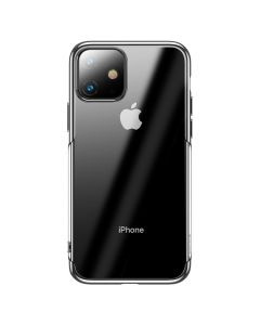 Husa iPhone 11 Baseus Silicon Shining Silver