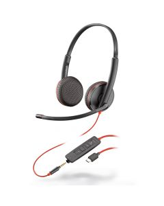 Casti Type-C sau Jack 3.5mm Plantronics Stereo BlackWire C3225