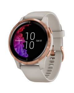 Smartwatch Garmin Venu Rose Gold, Silicone Light Sand