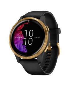 Smartwatch Garmin Venu Gold, Silicone Black