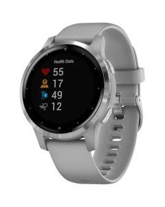 Smartwatch Garmin Vivoactive 4s Silver, Silicone Powder Gray