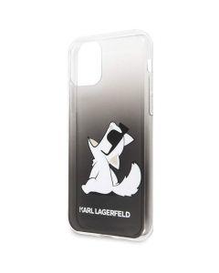 Husa iPhone 11 Karl Lagerfeld Colectia Fun Glasses Choupette Negru
