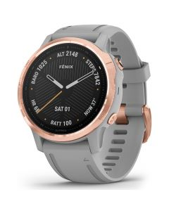Smartwatch Garmin Fenix 6S Pro Sapphire Rose Gold cu Powder Grey Band (42mm, wi-fi, glass)