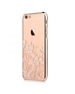 Carcasa iPhone 6/6S Devia Crystal Rococo Champagne Gold (Cristale Swarovski�, electroplacat)