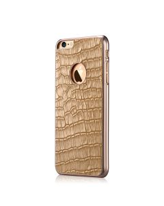 Carcasa iPhone 6/6S Devia Gallery Champagne Gold (piele naturala)