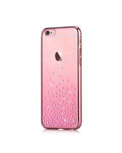 Carcasa iPhone 6/6S Comma Unique Polka Rose Gold (Cristale Swarovski�, electroplacat, protectie 360�