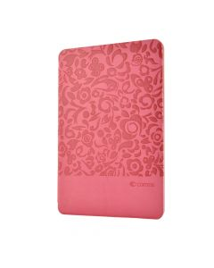 Husa iPad Mini 4 Comma Charming Pink (motiv floral embosat)