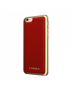 Carcasa iPhone 6/6S Occa Absolute Red (piele naturala)