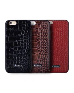 Carcasa iPhone 6/6S Comma Croco Brown (piele naturala cu margini flexibile)