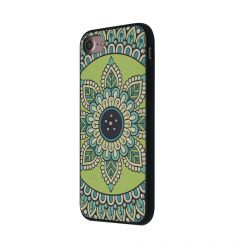 Carcasa iPhone SE 2020 / 8 / 7 Occa Artist Royal Green Mandala (3D print cu cristale)