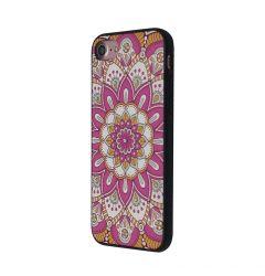 Carcasa iPhone SE 2020 / 8 / 7 Occa Artist Pink Mandala (3D print cu cristale)
