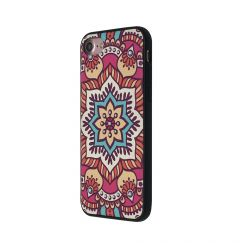 Carcasa iPhone SE 2020 / 8 / 7 Occa Artist Lotus Mandala (3D print cu cristale)