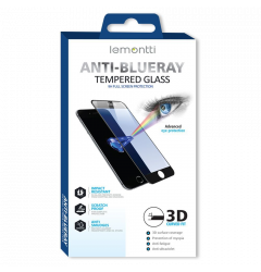Folie iPhone 7 Lemontti Sticla 3D Anti-BlueRay Black Frame