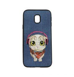 Carcasa Samsung Galaxy J3 (2017) Lemontti Embroidery Blue Puppy