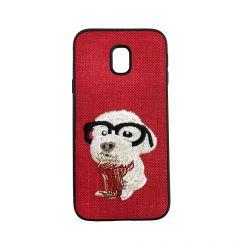 Carcasa Samsung Galaxy J3 (2017) Lemontti Embroidery Red Puppy