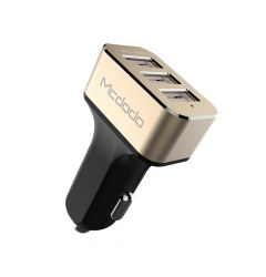 Incarcator Auto 5.2A Mcdodo Triplu USB Gold (5.2A max total, 2.4 max per port)