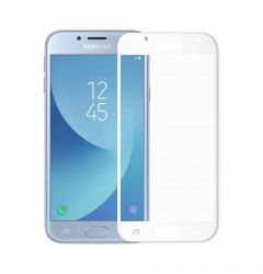 Folie Samsung Galaxy J7 (2017) Meleovo Sticla Full Cover White