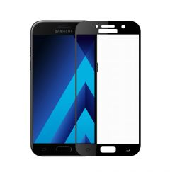 Folie Samsung Galaxy A3 (2017) Meleovo Sticla Full Cover Black