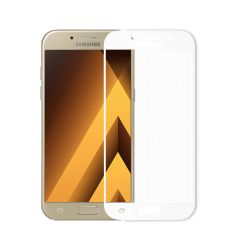 Folie Samsung Galaxy A3 (2017) Meleovo Sticla Full Cover White